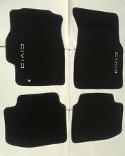 Fit Honda Civic 1996-2000 4Dr/2Dr Floor Mats Black W/Emblem (Nylon) 2