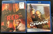 RED (Brand New) + CRANK Blu-ray Action Set, Willis and Statham