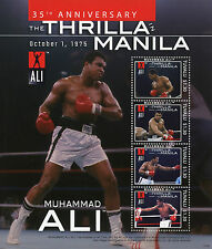 Tuvalu 2010 MNH Muhammad Ali Thrilla in Manila 35th Anniv 4v M/S I Boxing Stamps