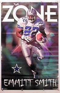 "Emmitt Smith The Zone Dallas Cowboys  23.25""X35.50"" Poster1997 CostacosNOS(b434)"