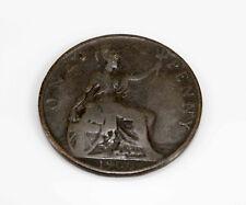 1900 Great Britain One Penny Victoria Dei Gra Britt Regina Fid Def Ind Imp