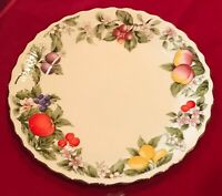 "Andrea by Sadek FRUIT & BLOSSOMS 10 1/2"" Dinner Plates Set of 6 EUC"