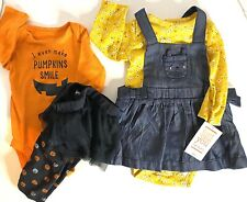 Lot Infant Girls Clothes Halloween Fall Dress Bodysuit Leggings Size 3 Months