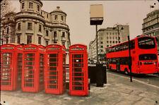 Wp/_ilc/_251 I Love London-Londra Skyline In Metallo Cuore-Piastra Muro