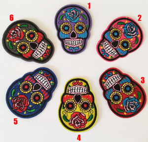 Suger Skull Mexican Skull Candy Patches Badges Iron On / Sew On