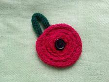 Hand knitted Poppy Brooch