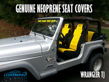 Jeep Wrangler TJ Black-Yellow Tailored Neoprene Seat Covers from Coverking