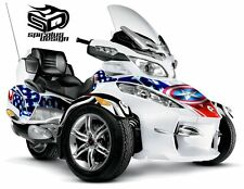 "Can Am Spyder RT RTS RT Limited graphic wrap decal kit ""The Patriot - Captain"""