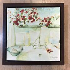 """Fabrice de Villeneuve Painting Framed Hand Embellished Printed Canvas 12""""x12"""""""