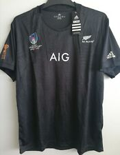 All Blacks New Zealand Mens Replica World Cup 2019 Jersey Size Small to XXL