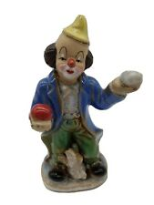 Vintage Clown Ceramic Figurine With Juggling Balls And Dog