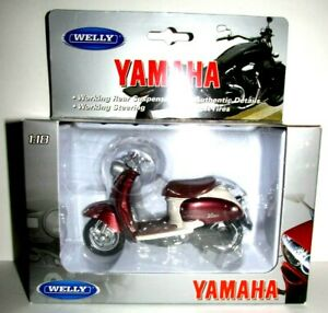 New 1:18 Yamaha 1999 Vino YJ50R Scooter Motorcycle Bike Toy Welly Model 12142
