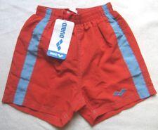 arena Jungen Badehose Short Gr. 116 Rot blaue Streifen Tasche am Gesäß