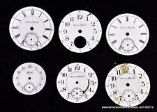 Lot of 6 Antique Hampden Watch Face Dials 18s 16s 6s Steampunk Altered Art 4977