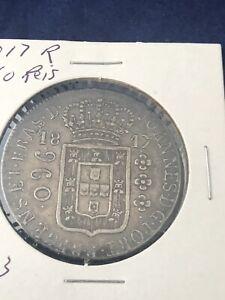 1817 R Brazil 960 Reis Silver Coin
