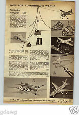 1962 PAPER AD Toy Space Capsule Flying Saucer Remco Falcon Plane Remote 707 Jet