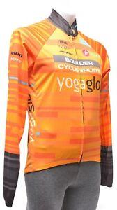 Castelli Cycling Wind Jacket Men MEDIUM Orange Road Bike Gravel MTB Cyclocross