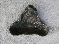 petit vide poche cendrier ART NOUVEAU femme Mucha Jugendstil 1900 régule