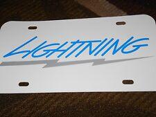 1993 1994 1995 FORD SVT F-150 F150 LIGHTNING STRIPE LOGO WHITE LICENSE PLATE