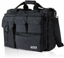 17.3 Laptop Bag Computer Shoulder Handbag Military Multifunction Briefcase Black