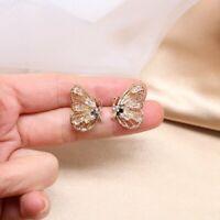 Fashion Elegant Women Chic Hollow Butterfly Stud Earrings Party Cute Jewellery
