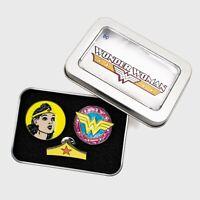 Dc Comics Wonder Woman  ENAMEL PIN SET Justice League Retro collection NEW!