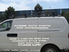 Tradesman Style Open Ends Steel Roof  Rack 2550x1400mm 4 Hyundai iLoad 2008 On