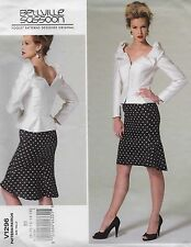 V1296 Vogue Sewing Pattern Bellville Sassoon Top Skirt Lg Sizes 16-24 Patron OOP