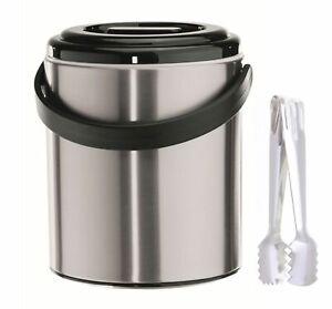 Eiswürfelbehälter Eisbehälter Bar Eiseimer Zange 2,2 l Eiswürfelzange Eiskübel