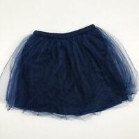 J Crew Crewcuts Girls 10 Navy Blue Tulle Skirt