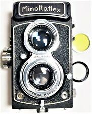 Minoltaflex TLR Film Camera / Rokkor 75mm Lens w Filters