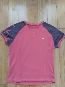 Specialized Women's Short Sleeve Cycling Jersey Medium Red/Brown Trail/Casual