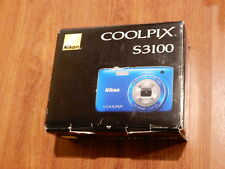 NEW in Box - Nikon COOLPIX S3100 14.0 MP Camera - BLUE - 018208262670
