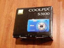 NEW in Box - Nikon COOLPIX S3100 14.0 MP Camera - BLUE - 018208262670