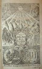 METALLURGIA / ALCHIMIA - Ercker : Aula Subterranea - Frankfurt 1736  Incisioni