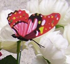 """Garden Decor Flower Pot Plant Pick Stake Colorful Butterfly NEW 12"""" tall #23"""