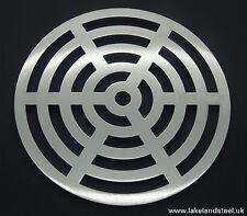 "7"" rond en acier inoxydable solide métal heavy duty drain cover gully grille grille"