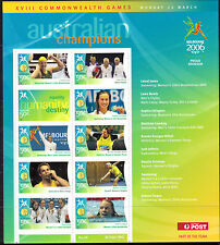 2006 Australia MS Commonwealth games sheet 8 bowls squash swimming +