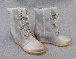 SOREL Wmns Joan Of Arctic Wedge II Boots LEATHER Kettle waterproof NEW Size 10.5