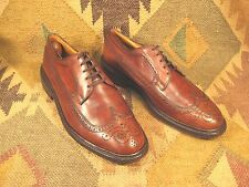 American Gentleman Brown Pebbled grain Leather Wingtips  size 10-E made in USA