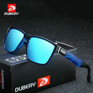 DUBERY Men Polarized Sport Fishing Driving Designer Sunglasses With Zipper Box