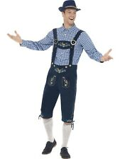 Oktoberfest Bavarian Lederhosen Costume Mens Adult German Fancy Dress Outfit