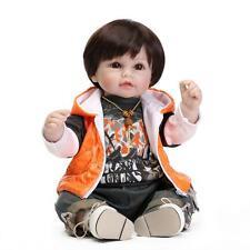 Nice High Vinyl Lovely Toy Doll 20in. 50cm Girl Gift Xmas Orange Boy Coat NPK
