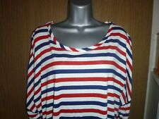 red/white/blue striped top size 12 *BNWT*