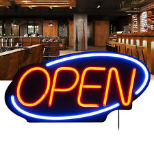 """24"""" X 12"""" Large Flashing Led Neon Open Sign Light for Businesses Shops Blue Red"""