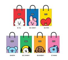 KPOP BTS BT21 paper gift bag,100% Authentic and Official BT21 Product, US Seller