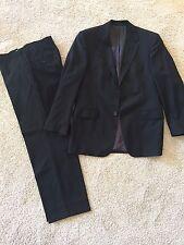 Hugo Boss 100% Virgin Cool Wool Black Lined  Suit  Size US 40, UK 50
