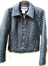 Donna Karan New York DKNY Jeans Navy Quilted Jacket Size USA 2 UK 4 (XS)
