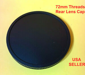 Screw in type REAR LENS CAP for your lens with 72mm Rear Threads 72 mm