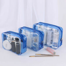 PVC Zip Pouch Kit Transparent Clear Travel Cosmetic Bathroom Wash Bag Storage